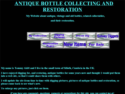 Antique Bottle Collecting and Restoration