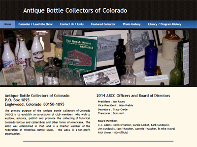 Antique Bottle Collectors of Colorado