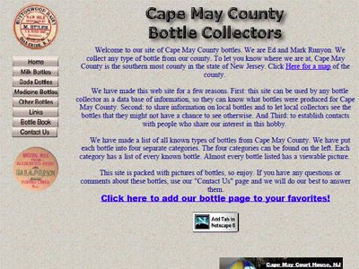 Cape May County Bottle Collectors