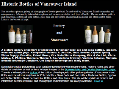 Historic Bottles of Vancouver Island