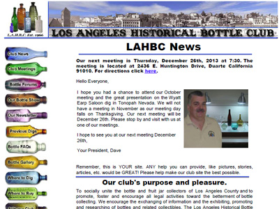 Los Angeles Historical Bottle Club