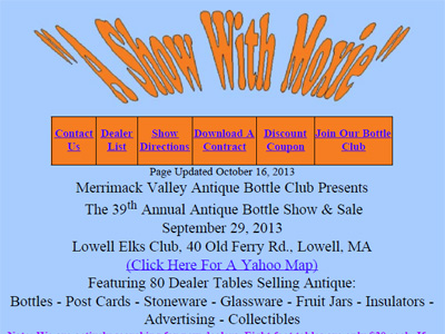 Merrimack Valley Antique Bottle Club
