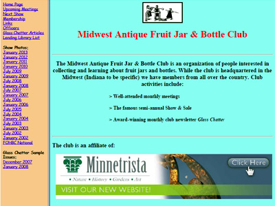 Midwest Antique Fruit Jar & Bottle Club
