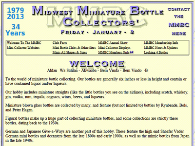 Midwest Miniature Bottle Collectors