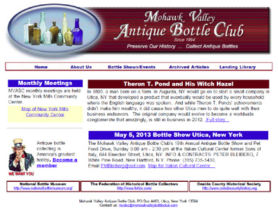 Mohawk Valley Antique Bottle Club