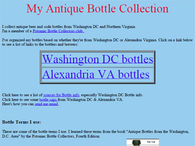 My Antique Bottle Collection