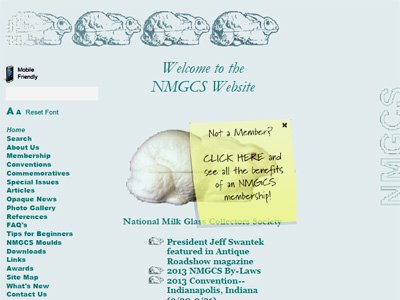 National Milk Glass Collectors Society