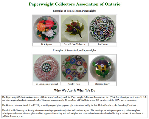 Paperweight Collectors Association of Ontario