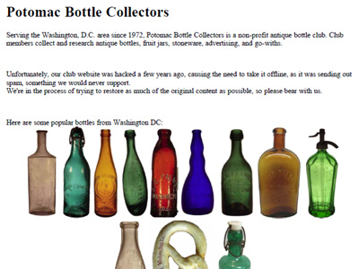 Potomac Bottle Collectors