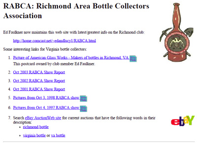 Richmond Area Bottle Collectors Association
