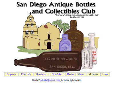 San Diego Antique Bottles and Collectibles Club