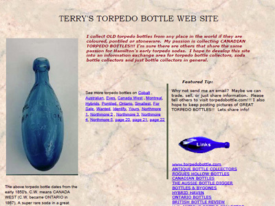 Terry's Torpedo Bottle Web Page