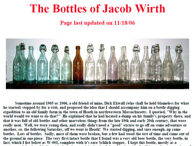 The Bottles of Jacob Wirth