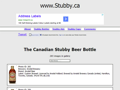 The Canadian Stubby Beer Bottle