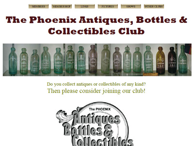 The Phoenix Antiques, Bottles, & Collectibles Club