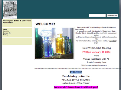 Washington Bottle & Collectors Association